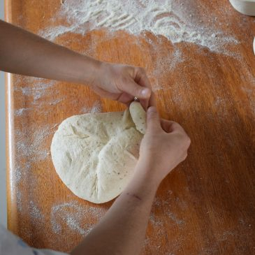 Shaping a loaf…..