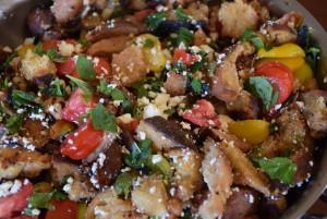 Tomato panzanella with Oak and Swan Sourdough
